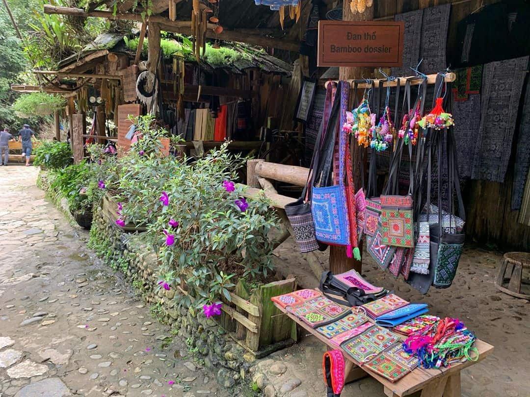 handicrafts products at Cat Cat village